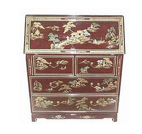 Chinese Imperial Secretary Desk by Oriental Furniture Bargain