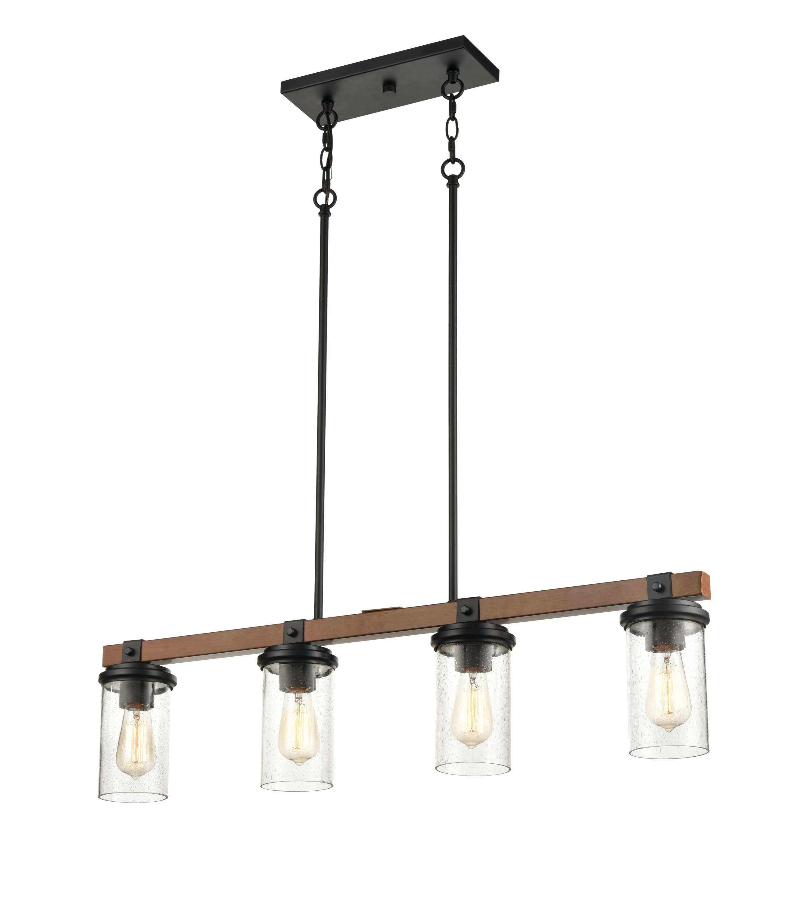 Vedant 10 - Light Kitchen Island Linear Pendant