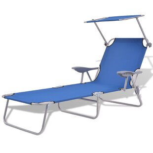 Ronnie Outdoor Sun Lounger With Canopy By Sol 72 Outdoor