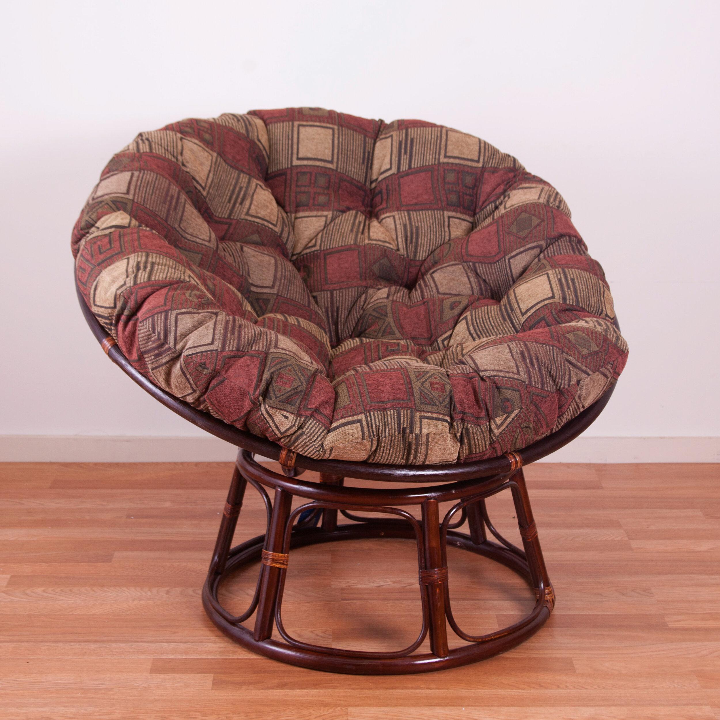 Picture of: Blazing Needles Chenille Papasan Chair Cushion Reviews Wayfair