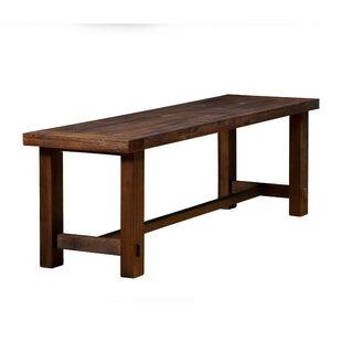 Wilner Rectangular Wood Bench