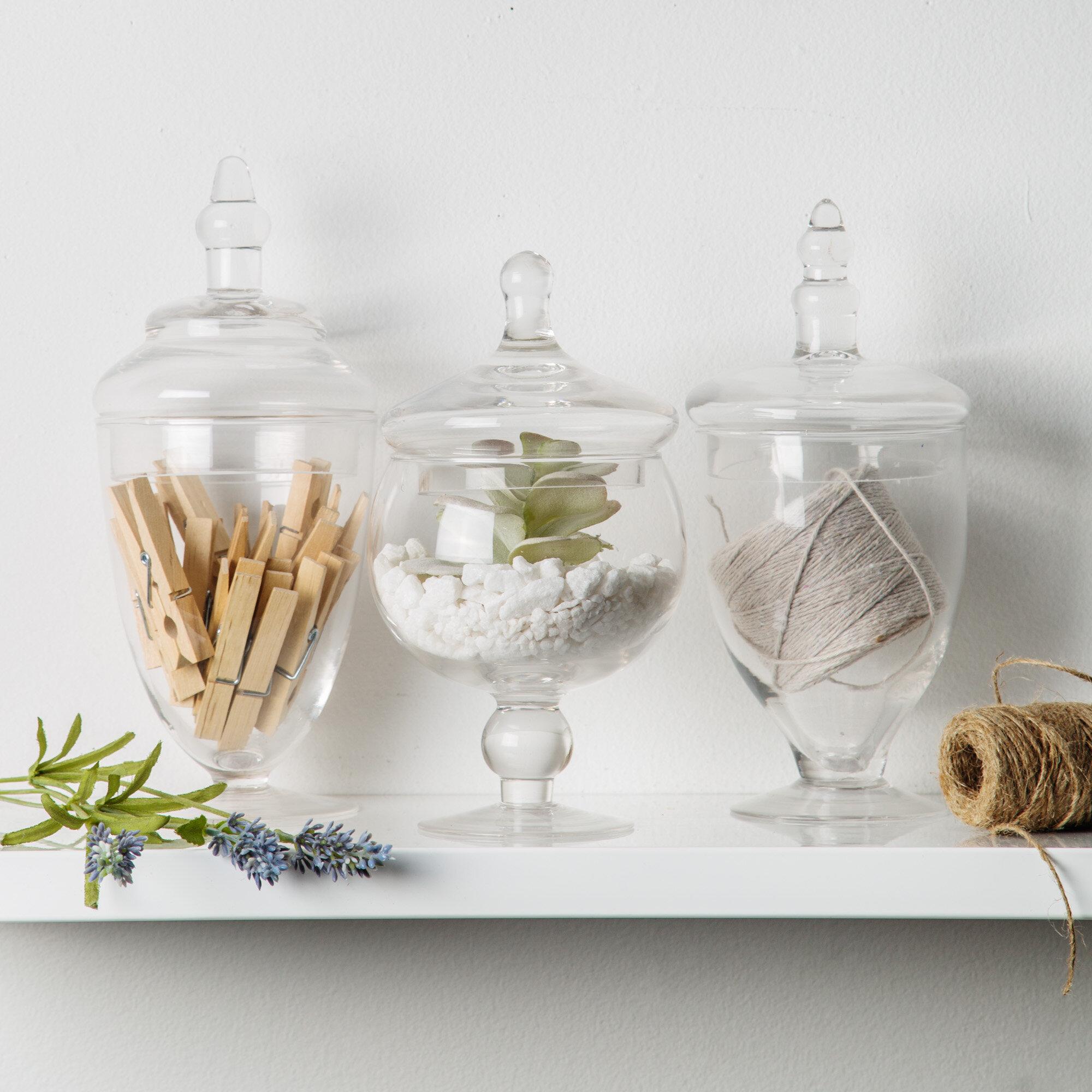 Mint Pantry Scotia 3 Piece Apothecary Jar Set Reviews Wayfair