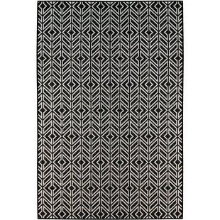 Online Reviews Moura Black/White Indoor/Outdoor Area Rug ByWrought Studio