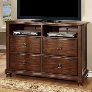 Reviews Rosso Traditional Striking Media 4 Drawer Chest by Charlton Home