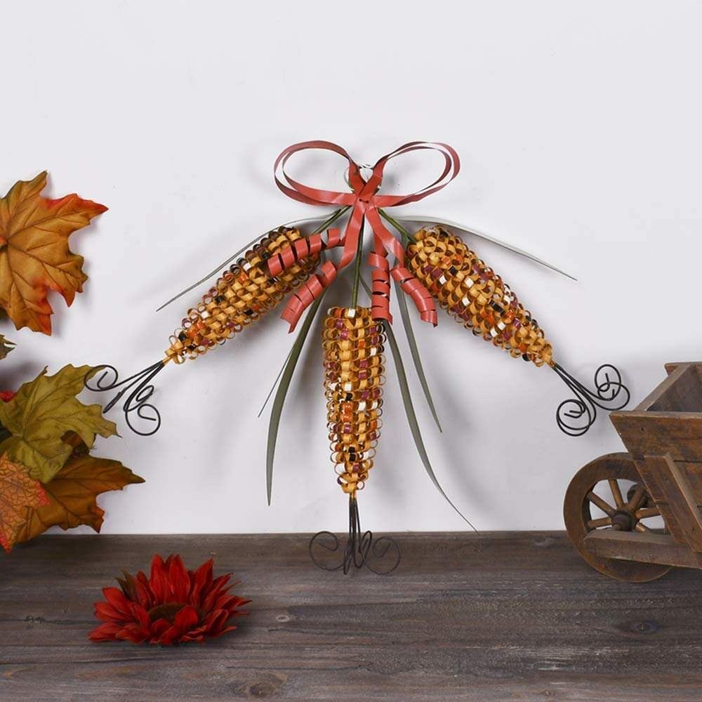 fall harvest decorations outdoors the holiday aisle a christmas metal corn fall hanging decorative  corn fall hanging decorative