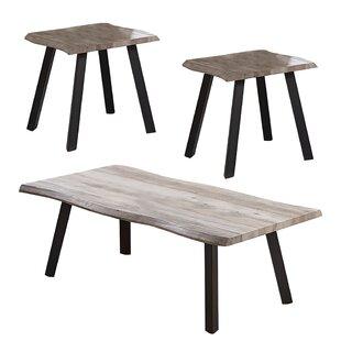 Burdick Live Edge 3 Piece Coffee Table Set