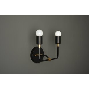 Leslee 2-Light Armed Sconce by Brayden Studio