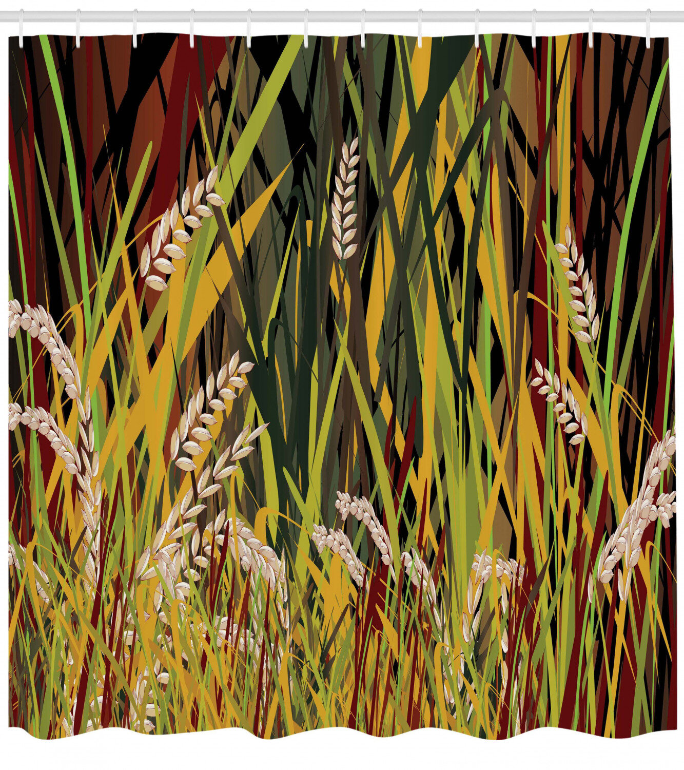 Reeds Dried Leaves Wheat River Wild Plant Forest Farm Country Life Art Print Image Background for Baby Birthday Party Wedding Vinyl Studio Props Photography Nature 10x15 FT Photography Backdrop