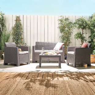 Gerlinde 4 Seater Rattan Effect Sofa Set By Sol 72 Outdoor