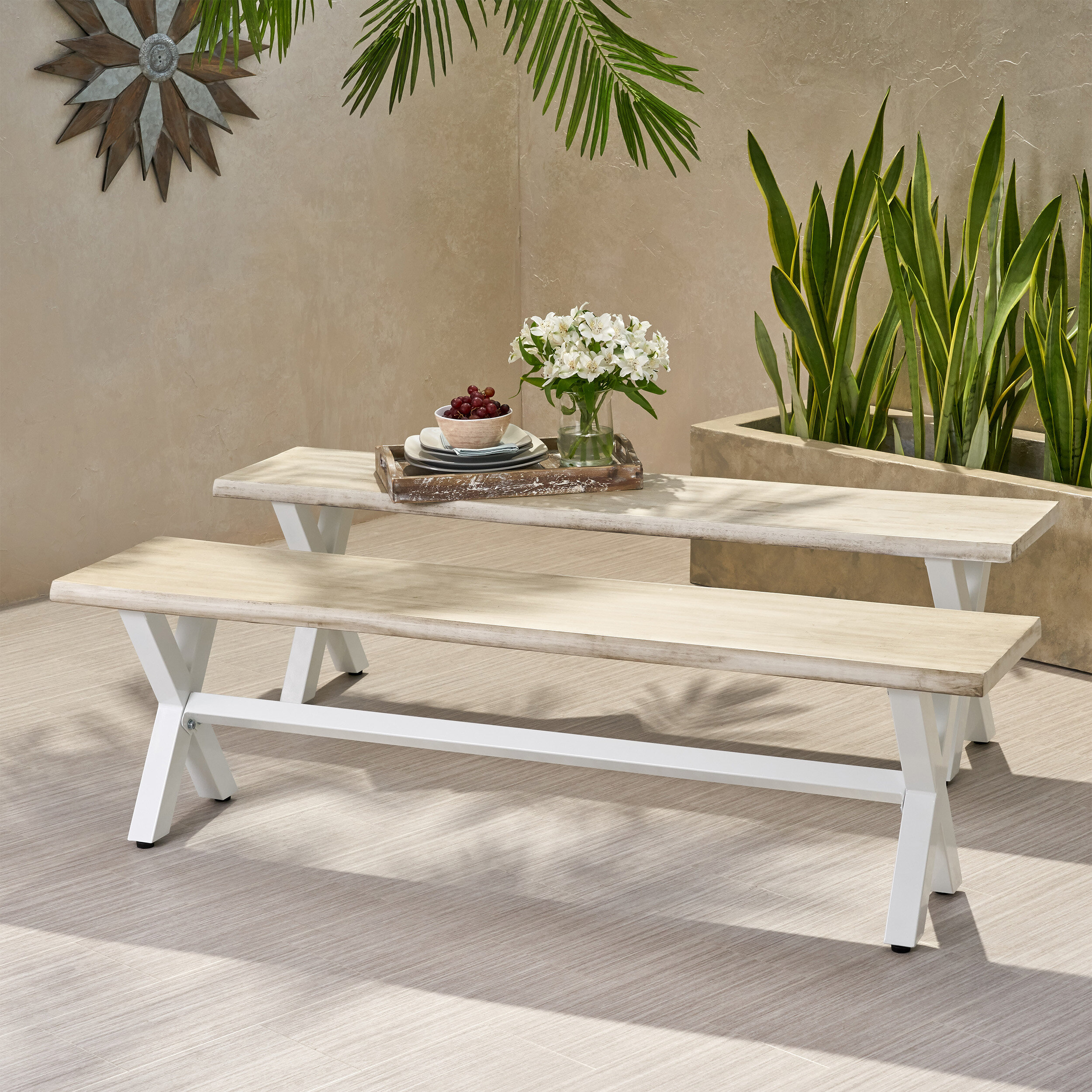 Terrific Galyon Wooden And Iron Picnic Bench Evergreenethics Interior Chair Design Evergreenethicsorg