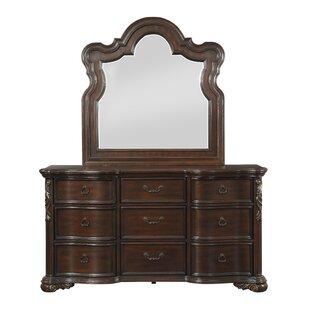 Montoya 9 Drawer Double Dresser with Mirror