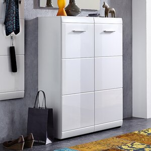 Garcia 24 Pair Shoe Storage Cabinet