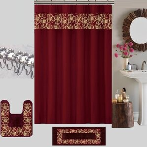 Berlin Shower Curtain SetIvory Ruffled Shower Curtain   Wayfair. Maroon Shower Curtain Set. Home Design Ideas