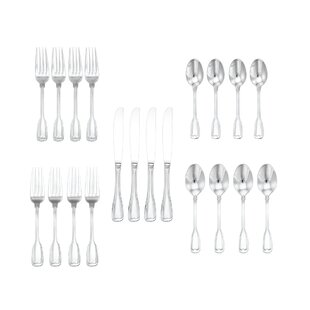 Patchell 20 Piece 18/10 Stainless Steel Flatware Set, Service for 4