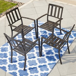 Tadlock Stacking Patio Dining Chair (Set of 4)
