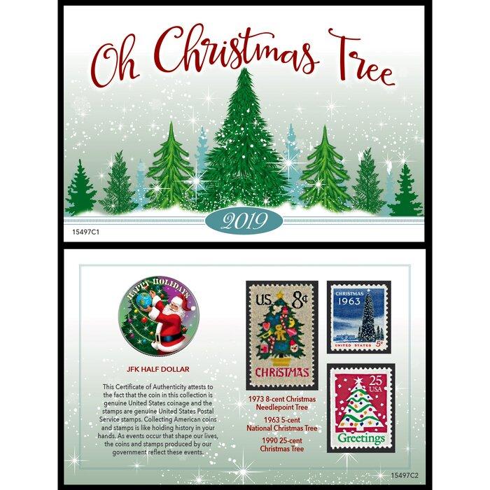 2019 Christmas Stamps.2019 Christmas Greetings Coin And Stamp Card