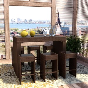Devault 7 Piece Bar Height Dining Set
