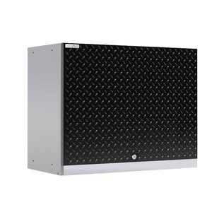 Performance Plus 2.0 Diamond Plate Series Wall 22 H x 28 W x 14 D Storage Cabinet by NewAge Products