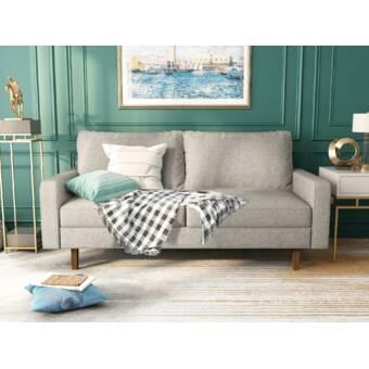 George Oliver Jo Velvet 70 Square Arm Sofa Reviews Wayfair