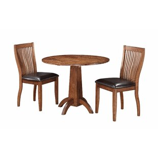Blanco Point 3 Piece Solid Wood Dining Set Loon Peak