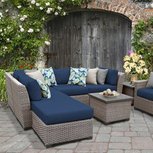 Florence Outdoor Wicker 8 Piece Sectional Seating Group with Cushion