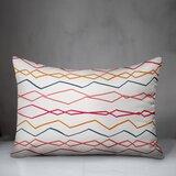 Mccombs Abstract Wavy Stripes Indoor/Outdoor Lumbar Pillow