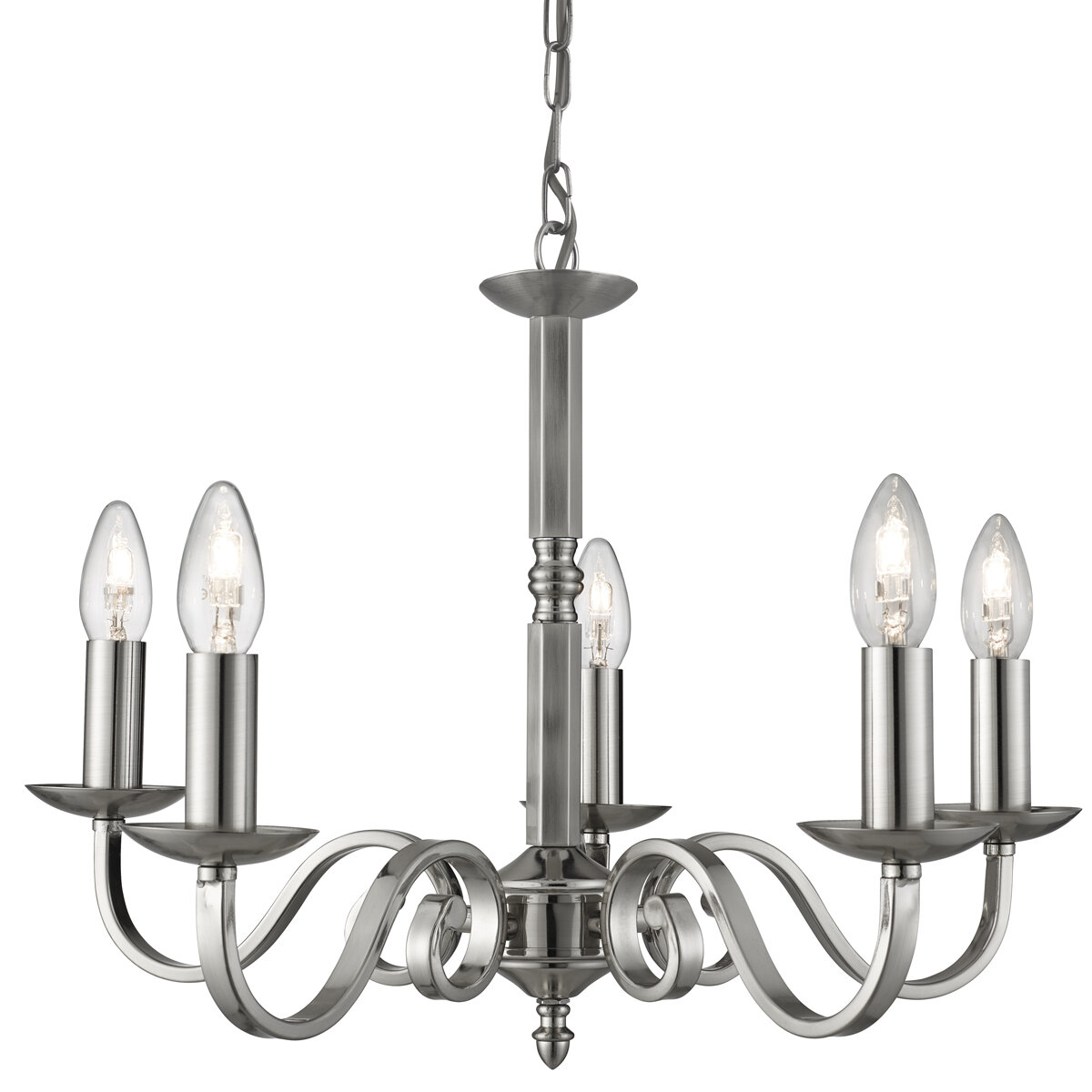 Terry 5 Light Candle Style Chandelier