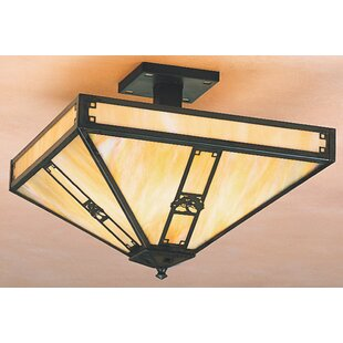 Arroyo Craftsman Pasadena 4-Light Semi Flush Mount