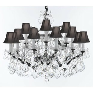Rosdorf Park Borunda Iron 18-Light Shaded Chandelier