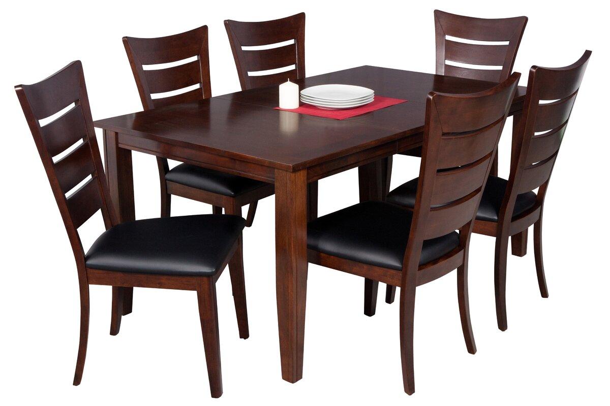 Haan 7 Piece Solid Wood Dining Set