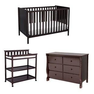 Comparison Rosie Classic 4-in-1 Convertible 3 Piece Crib Set ByMack & Milo