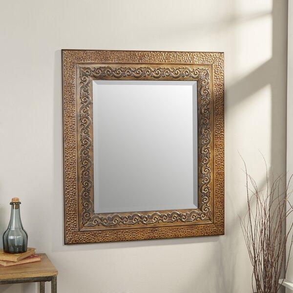 World Menagerie Asrani Rustic Metal Framed Mirror & Reviews | Wayfair