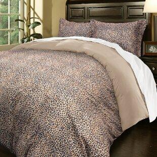 Monaco Leopard Pattern Reversible Duvet Set