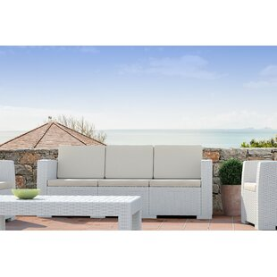 Vedder Resin Patio Sofa with Cushion by Brayden Studio