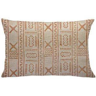 Mollica Mud Cloth Linen Lumbar Pillow
