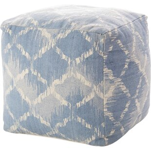 Mika Distressed Pouf by Bungalow Rose