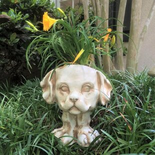Muggly Muttley the Dog Animal Statue Planter by HomeStyles