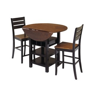 Atwater 3 Piece Counter Height Dining Set World Menagerie