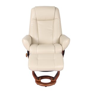 Rodrigue Manual Swivel Recliner with Ottoman