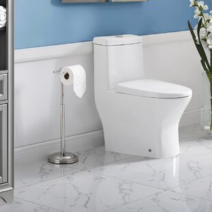Shop For Sublime II Compact Dual-Flush Toilet with Side Holes (Seat Included) By Swiss Madison