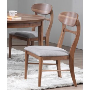 Chau Solid Wood Dining Chair (Set of 2) George Oliver