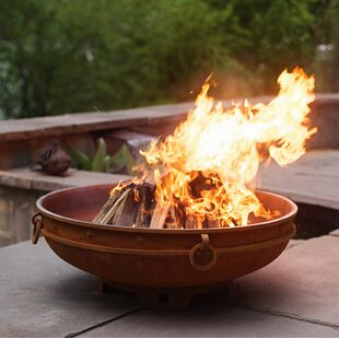 Asia Steel Wood Burning Fire Pit by Fire Pit Art