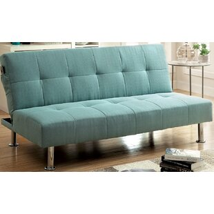 Tufted Futon Convertible Sofa by A&J Home..