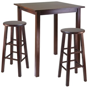 Auburn Road 3 Piece Counter Height Pub Table Set Red Barrel Studio