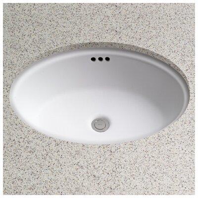 dartmouth vitreous china oval undermount bathroom sink with overflow - Undermount Bathroom Sink Oval
