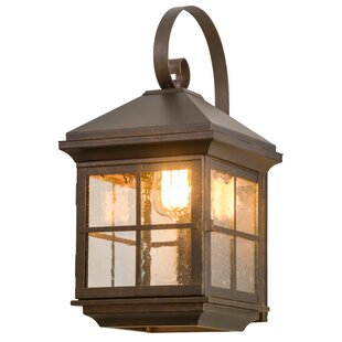 Greenbriar Oak Outdoor Wall Lantern By Meyda Tiffany Outdoor Lighting
