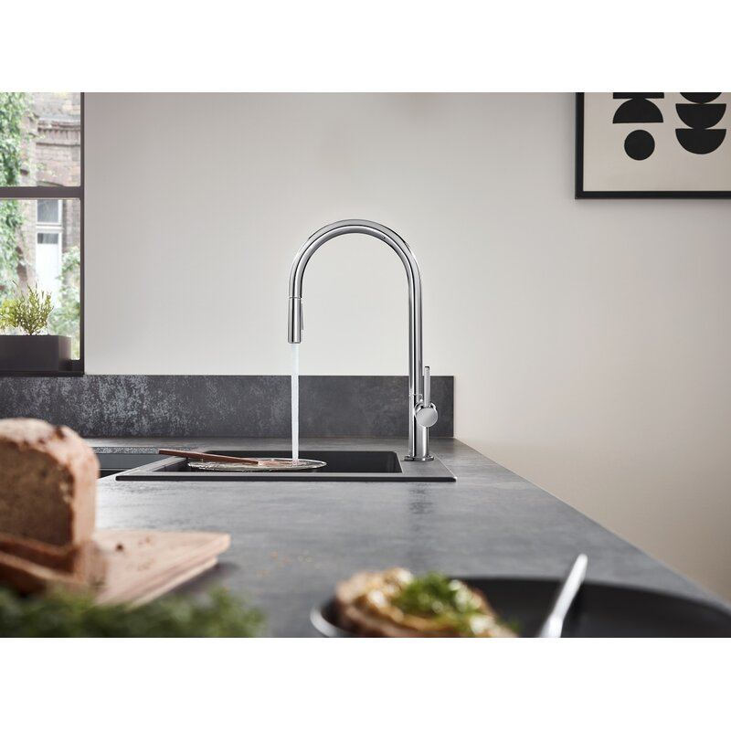 talis n pull down single handle kitchen faucet