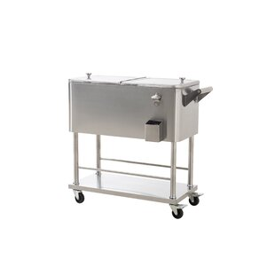 Sunjoy 80 Qt. Grant Stainless Steel Cooler