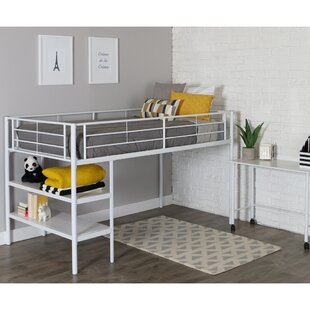 Aglandjia Twin Low Loft Bed with Bookcase