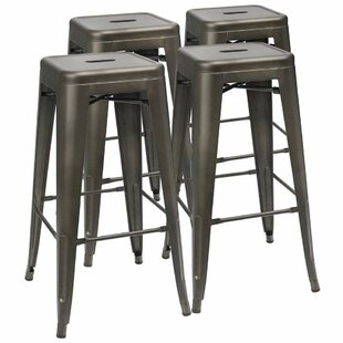 Comparison Giroux 30'' Bar Stools (Set of 4) by Ebern Designs Reviews (2019) & Buyer's Guide